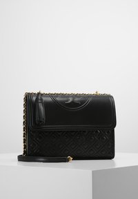 Tory Burch - FLEMING CONVERTIBLE SHOULDER BAG - Kabelka - black - 0
