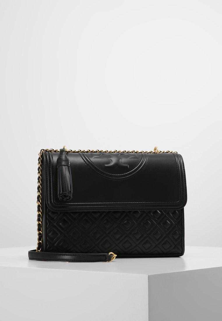 Tory Burch - FLEMING CONVERTIBLE SHOULDER BAG - Kabelka - black