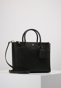 Tory Burch - ROBINSON DOUBLE-ZIP TOTE - Handbag - black / royal navy - 0