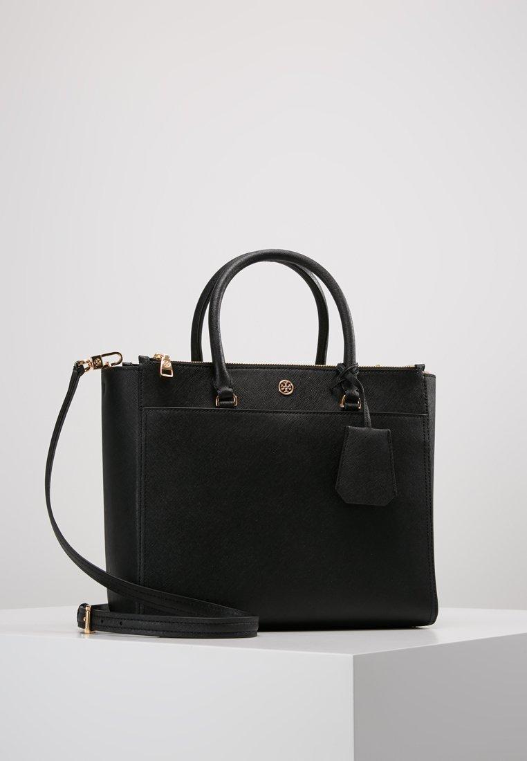 Tory Burch - ROBINSON DOUBLE-ZIP TOTE - Handbag - black / royal navy
