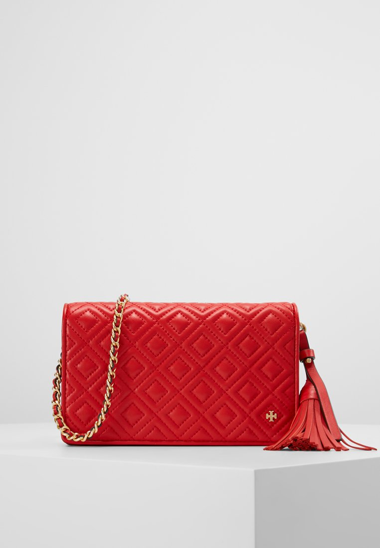 Tory Burch - FLEMING FLAT WALLET CROSS BODY - Across body bag - brilliant red