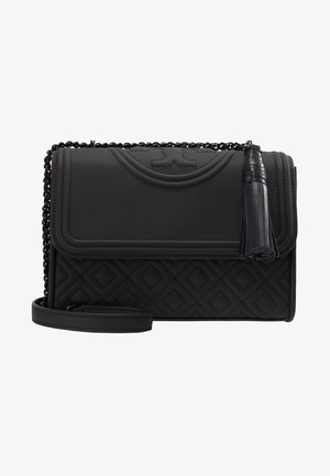 FLEMING MATTE SMALL CONVERTIBLE SHOULDER BAG - Taška s příčným popruhem - black