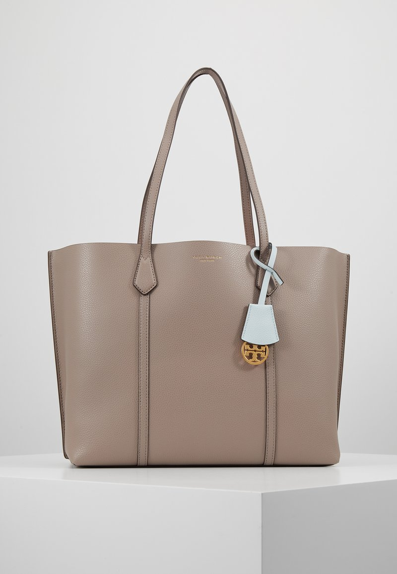 Tory Burch - PERRY TRIPLE COMPARTMENT TOTE - Shoppingväska - gray heron