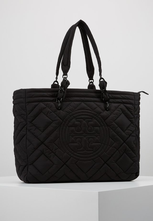 FLEMING QUILTED TOTE - Shopping Bag - black