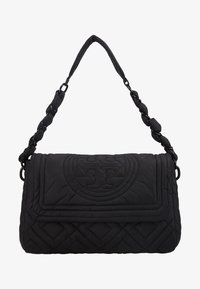 Tory Burch - FLEMING QUILTED SMALL FLAP SHOULDER BAG - Bolso de mano - black - 5