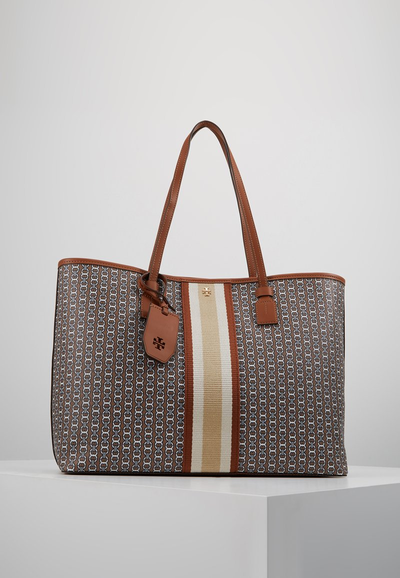 Tory Burch - GEMINI LINK CANVAS TOTE - Shopping bags - light umber gemini link