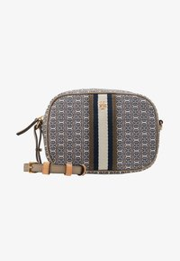 Tory Burch - GEMINI LINK MINI BAG - Across body bag - gray heron link