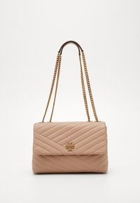 Tory Burch - KIRA CHEVRON CONVERTIBLE SHOULDER BAG - Handtas - devon sand - 0