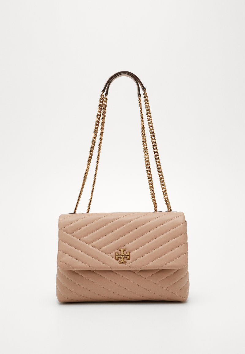 Tory Burch - KIRA CHEVRON CONVERTIBLE SHOULDER BAG - Handtas - devon sand