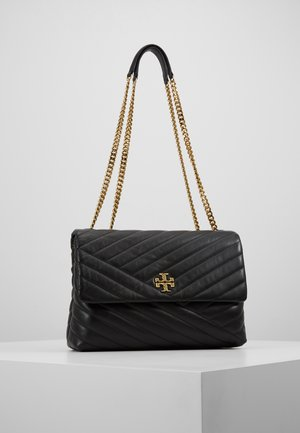 KIRA CHEVRON CONVERTIBLE SHOULDER BAG - Kabelka - black/gold