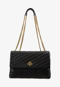 Tory Burch - KIRA CHEVRON CONVERTIBLE SHOULDER BAG - Handtas - black/gold - 5