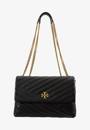 KIRA CHEVRON CONVERTIBLE SHOULDER BAG - Käsilaukku - black/gold