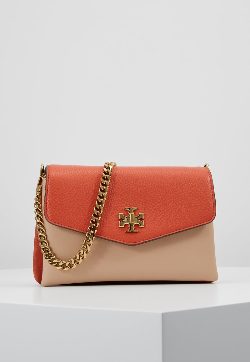 Tory Burch - KIRA COLOR BLOCK MINI BAG - Across body bag - lava