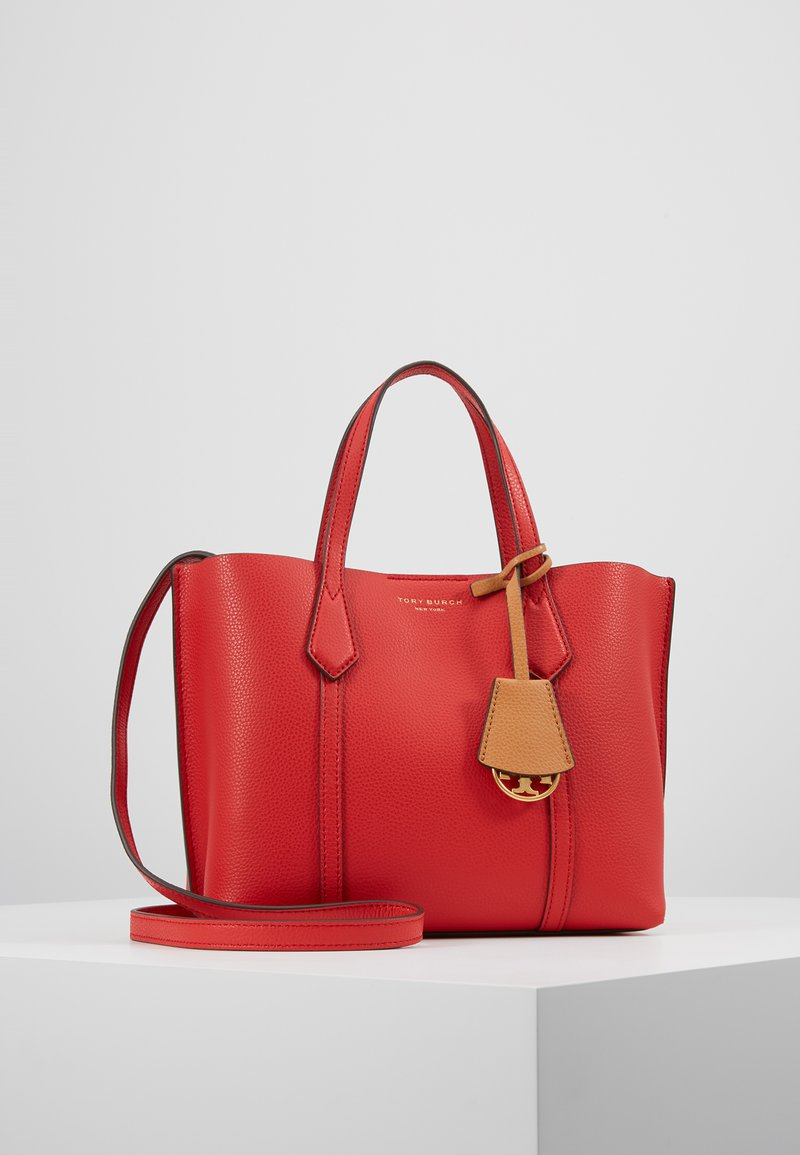 Tory Burch - PERRY SMALL TRIPLE COMPARTMENT TOTE - Håndtasker - brilliant red