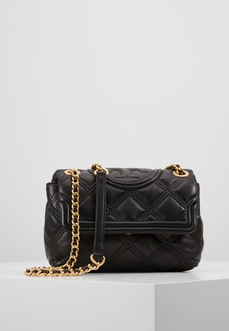 Tory Burch - FLEMING SOFT SMALL CONVERTIBLE SHOULDER BAG - Handväska - black