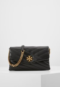 Tory Burch - KIRA CHEVRON CHAIN WALLET - Schoudertas - black - 0