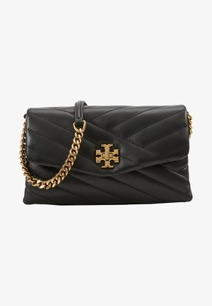 KIRA CHEVRON CHAIN WALLET - Across body bag - black