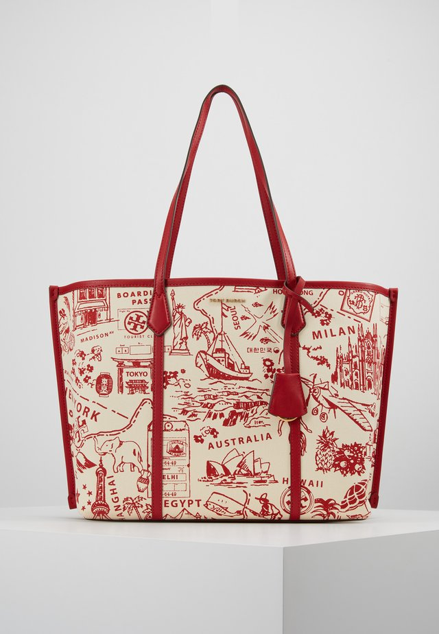 PERRY PRINTED  - Tote bag - red destination