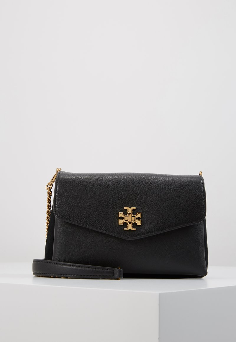 Tory Burch - KIRA MIXED MATERIALS MINI BAG - Bandolera - black
