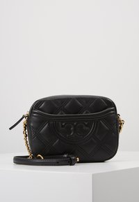 Tory Burch - FLEMING SOFT CAMERA BAG - Borsa a tracolla - black - 0