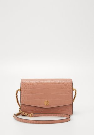 ROBINSON EMBOSSED MINI SHOULDER BAG - Across body bag - pink moon