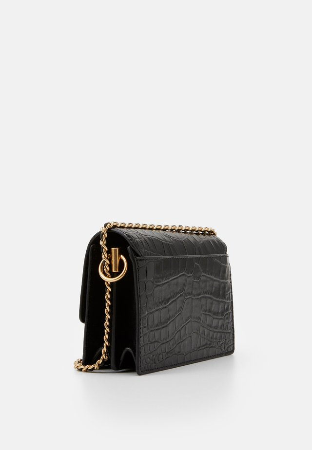 ROBINSON EMBOSSED MINI SHOULDER BAG - Skuldertasker - black