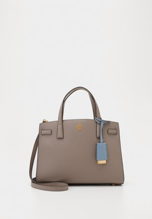 WALKER TRIPLE COMPARTMENT SATCHEL - Bolso de mano - gray heron