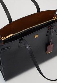 Tory Burch - WALKER TRIPLE COMPARTMENT SATCHEL - Handbag - black - 2