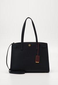 Tory Burch - WALKER TRIPLE COMPARTMENT SATCHEL - Handbag - black - 0