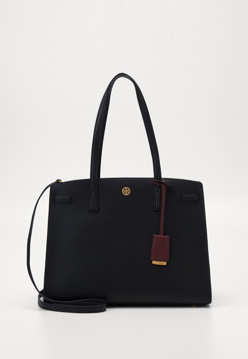 Tory Burch - WALKER TRIPLE COMPARTMENT SATCHEL - Handbag - black
