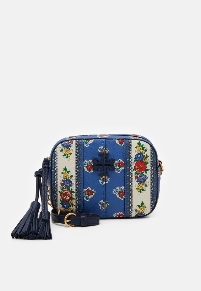 MCGRAW FLORAL CAMERA BAG - Across body bag - blue