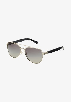 Sunglasses - shiny light gold-coloured