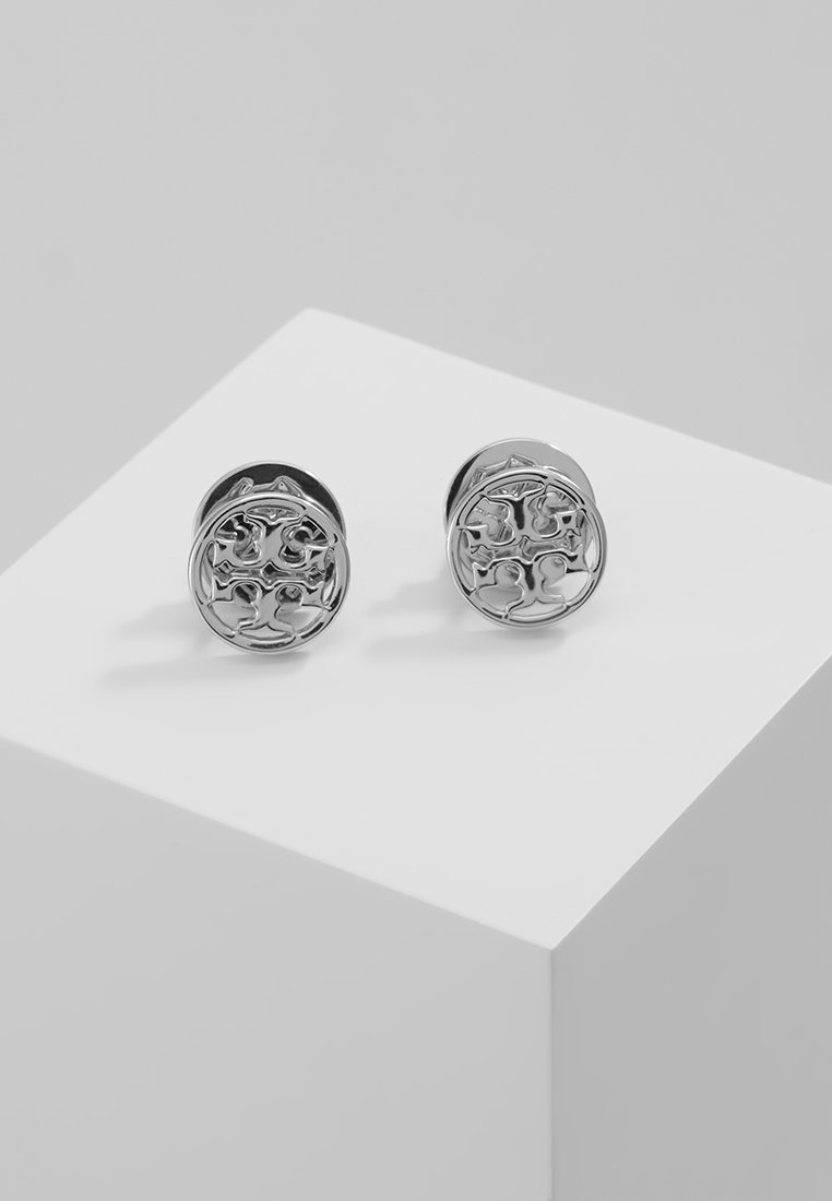 Tory Burch - LOGO CIRCLE EARRING - Korvakorut -  silver-coloured