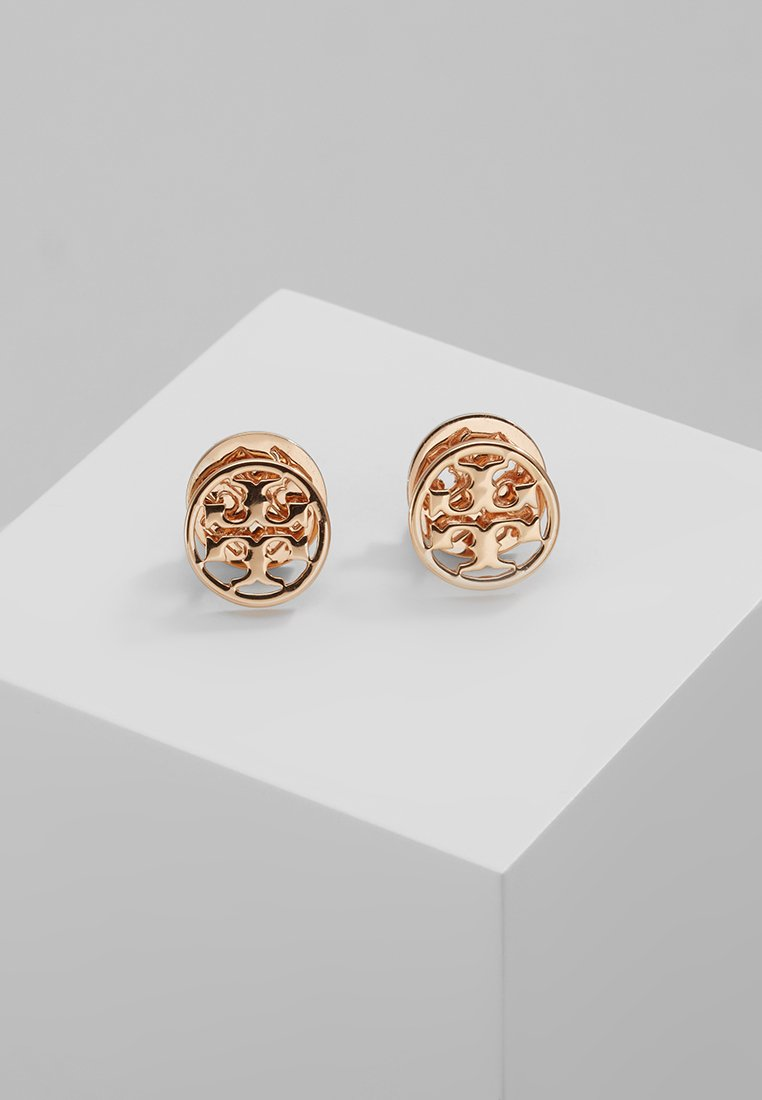 Tory Burch - LOGO CIRCLE EARRING - Náušnice - rose gold-coloured
