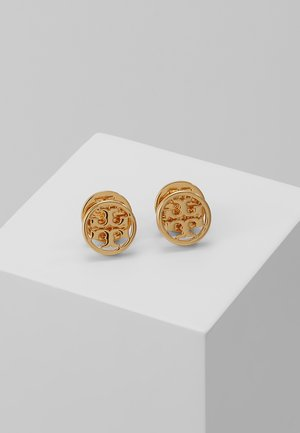 LOGO CIRCLE EARRING - Kolczyki - gold-coloured