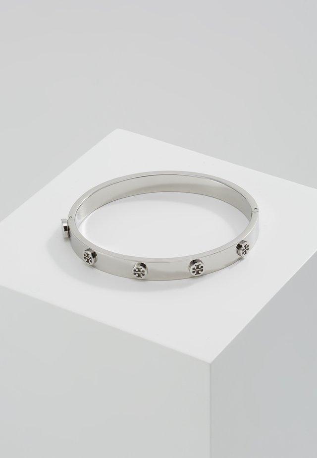 LOGO STUD HINGE BRACELET - Armband - silver
