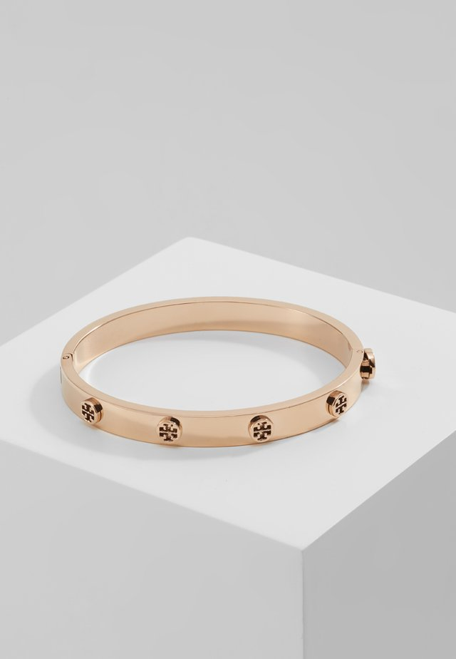 LOGO STUD HINGE BRACELET - Armbånd - rose gold-coloured