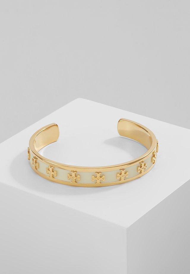 RAISED LOGO CUFF - Bracelet - new ivory / tory gold-coloured