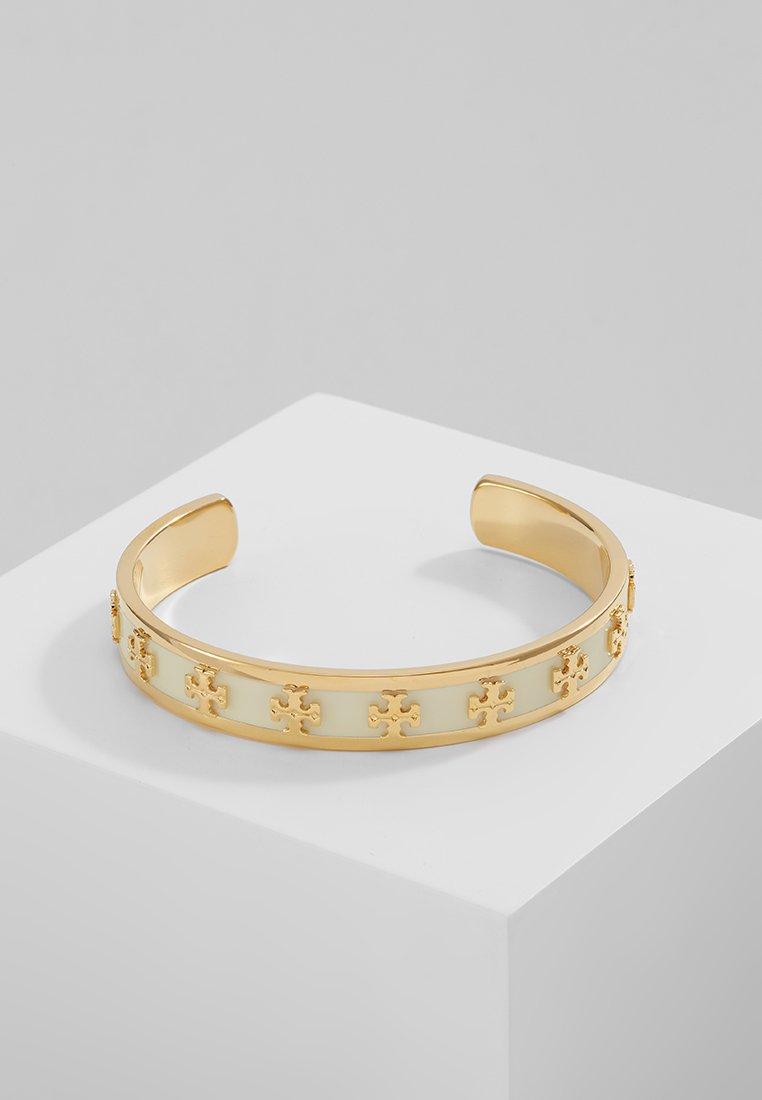 Tory Burch - RAISED LOGO CUFF - Náramek - new ivory / tory gold-coloured