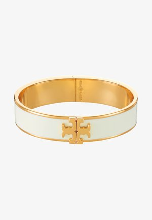 RAISED LOGO THIN HINGED BRACELET - Bransoletka - ivory/gold-coloured