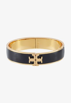 RAISED LOGO THIN HINGED BRACELET - Armbånd - black/gold-coloured