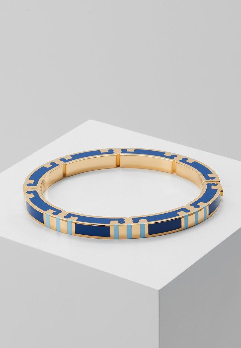 Tory Burch - T-STRIPE BRACELET - Bracelet - gold-coloured/robins egg/bondi blue