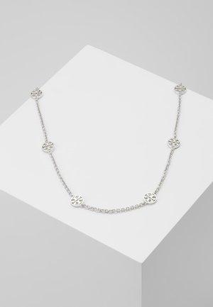 DELICATE LOGO NECKLACE - Collana - tory silver-coloured