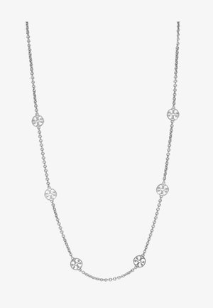 DELICATE LOGO NECKLACE - Ketting - tory silver-coloured