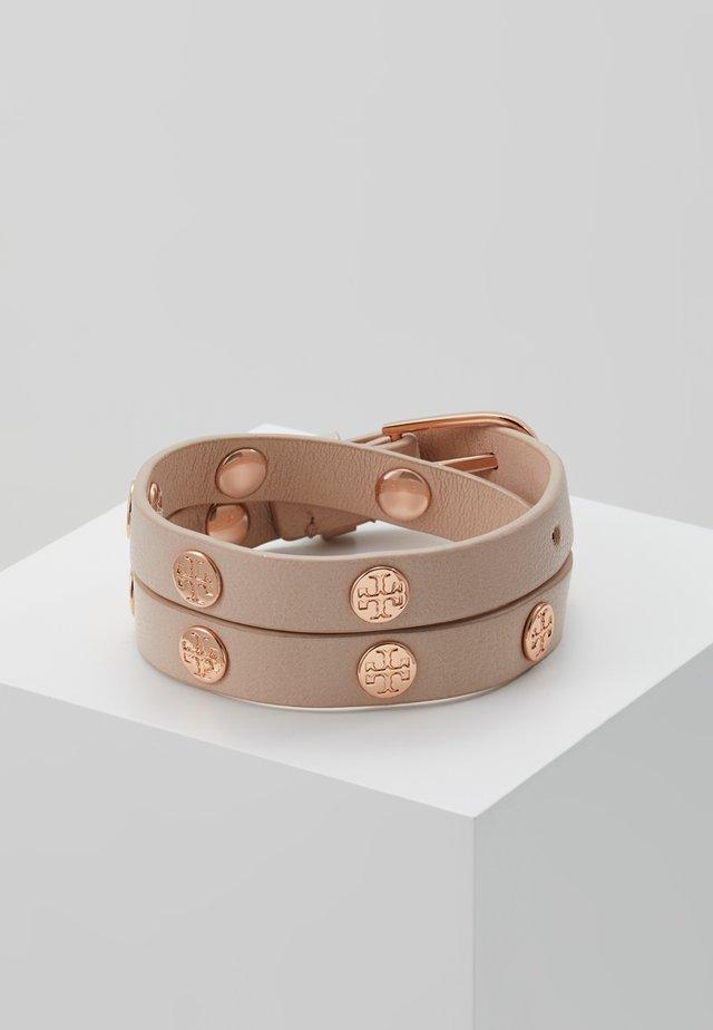 DOUBLE WRAP BRACELET - Bracelet - light oak/rose gold-coloured