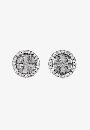 LOGO CIRCLE  EARRING - Oorbellen - silver/crystal