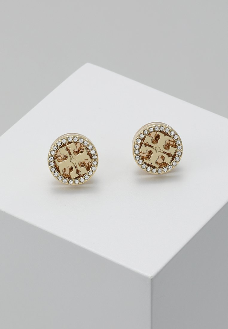 Tory Burch - LOGO CIRCLE  EARRING - Pendientes - gold-coloured