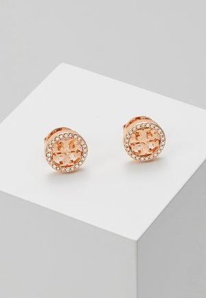 LOGO CIRCLE  EARRING - Ohrringe - rose gold-coloured