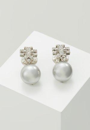 LOGO DROP EARRING - Earrings - silver-coloured
