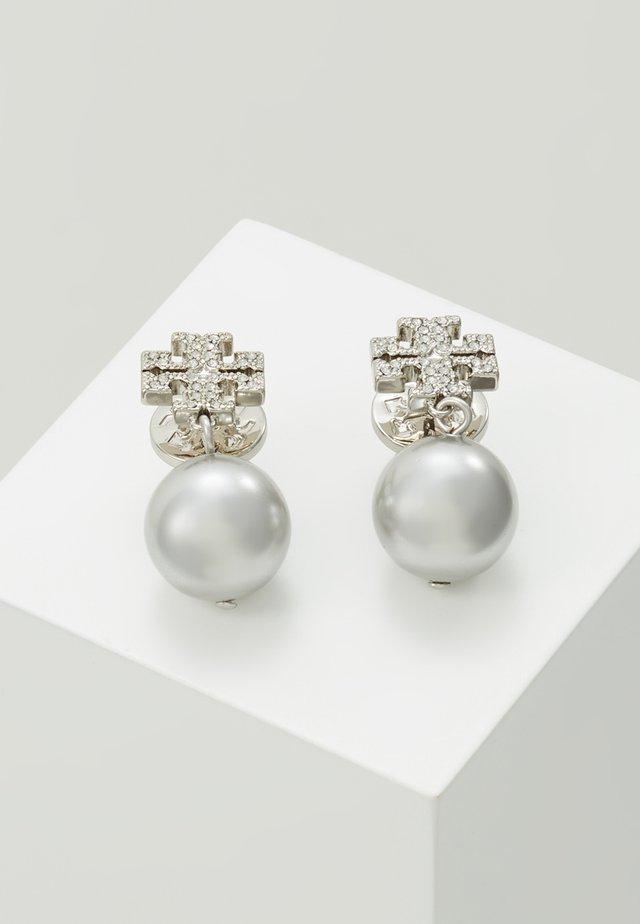 LOGO DROP EARRING - Boucles d'oreilles - silver-coloured